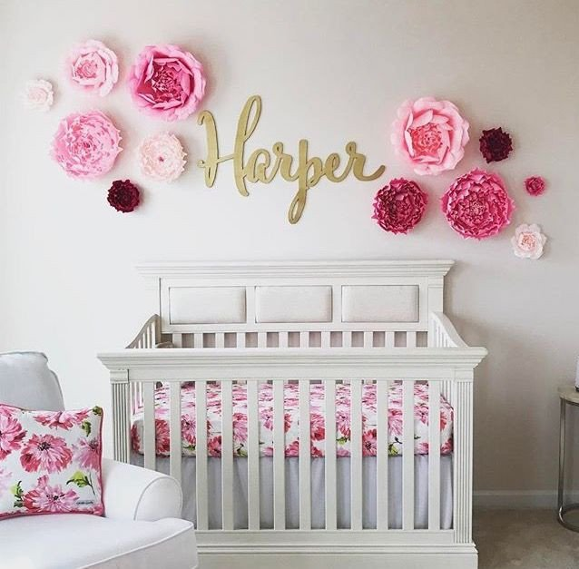 Baby Girl Room Decor Ideas Luxury Baby Name Sign Wood Wall Name Sign Different Font Selections Available