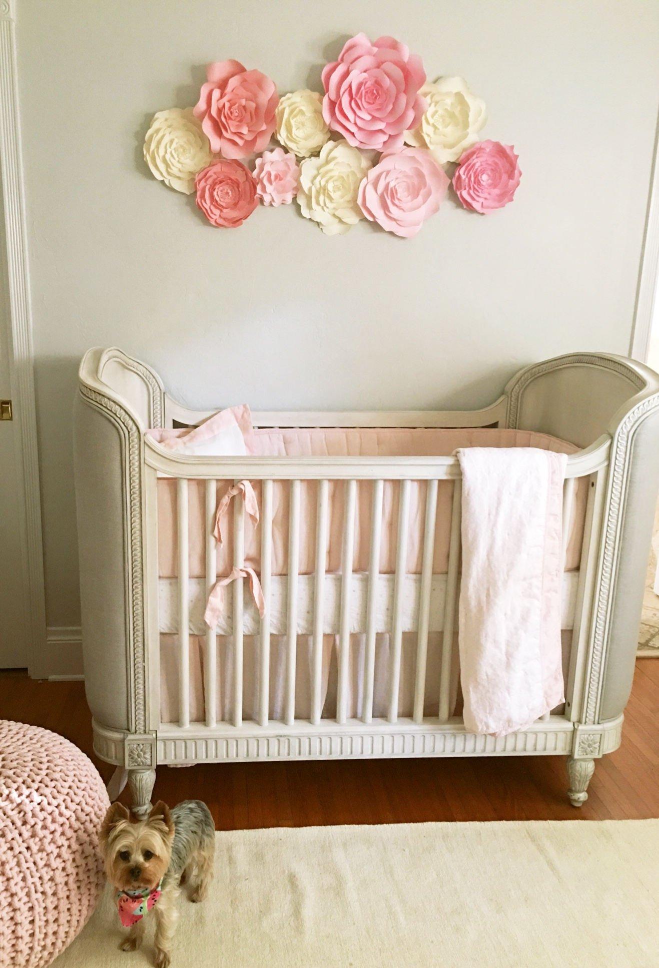 Baby Girl Room Wall Decor Elegant Baby Nursery Wall Decor Paper Flowers for Girls Nursery