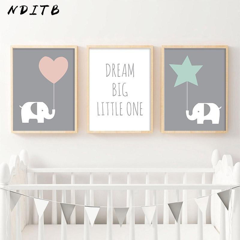 Baby Girl Room Wall Decor Fresh 2019 Nditb Baby Girl Nursery Decor Wall Art Canvas Posters and Prints Elephant Painting