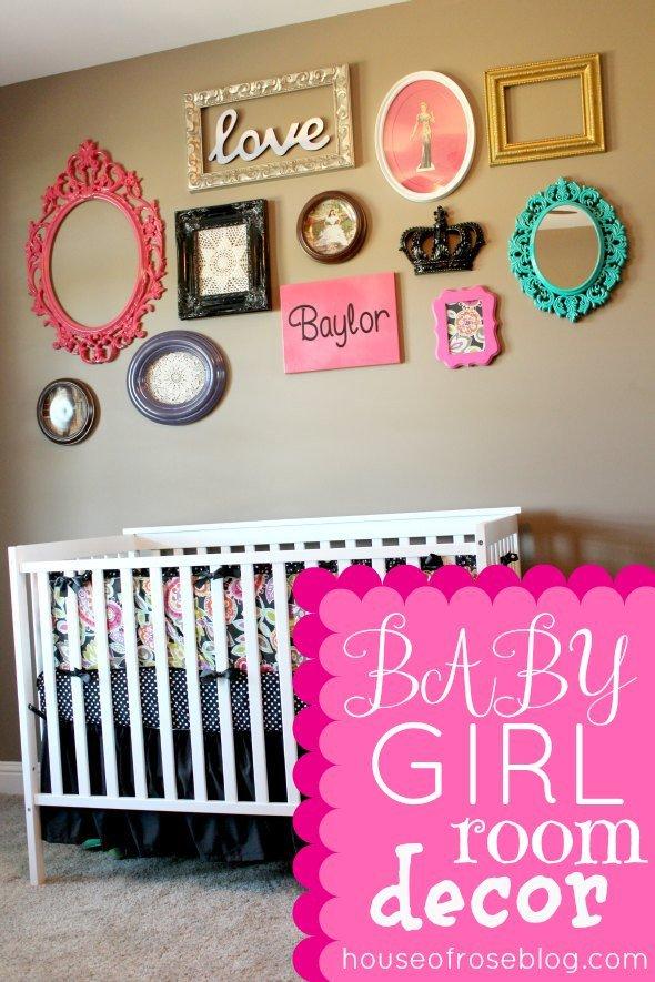 Baby Girl Room Wall Decor Lovely Baby Girl Room Ideas Decorating