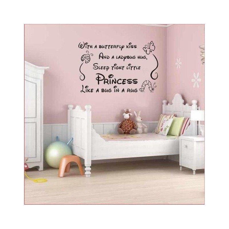 Baby Girl Room Wall Decor Lovely Nursery Baby Princes Girl Wall Art Sticker Wall Art Decal