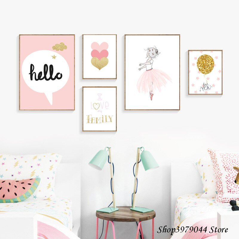 Baby Girl Room Wall Decor Luxury Baby Girl Room Decor Wall Art Paintings Posters and Prints Baby Room Wall Decoration Cartoon