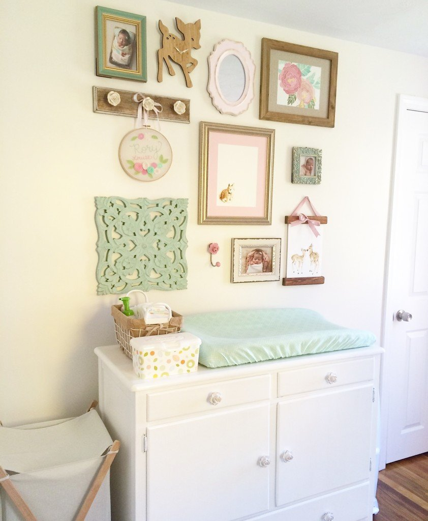 Baby Room Wall Decor Ideas Elegant Rory Lou S Shabby Chic Mint Pink and Gold Nursery Project Nursery