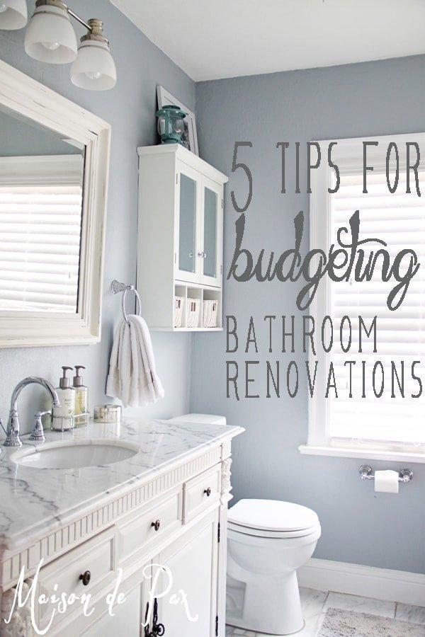 Bathroom Decor On A Budget Fresh Bathroom Renovations Bud Tips