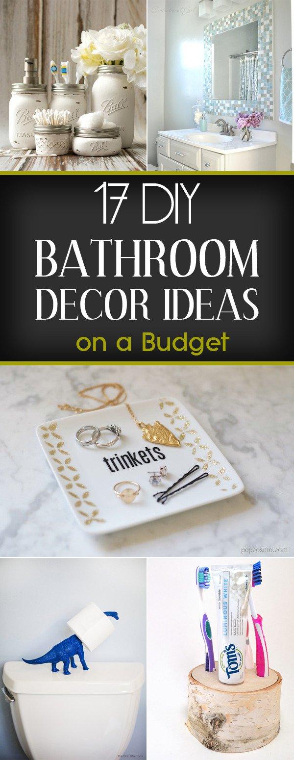 Bathroom Decor On A Budget Unique 17 Diy Bathroom Decor Ideas On A Bud