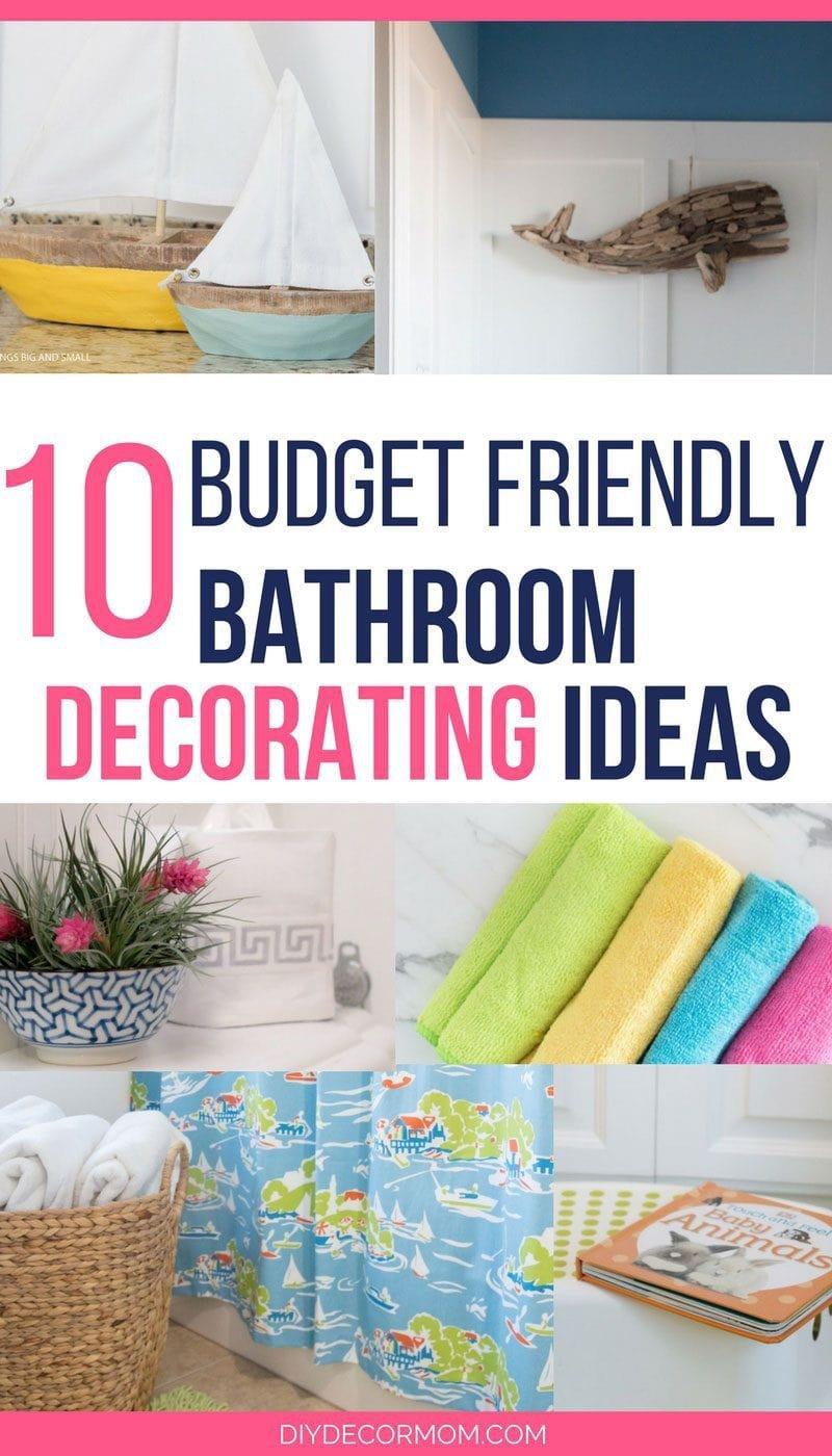 Bathroom Decor On A Budget Unique Bathroom Decorating Ideas the Best Bud Friendly Ideas