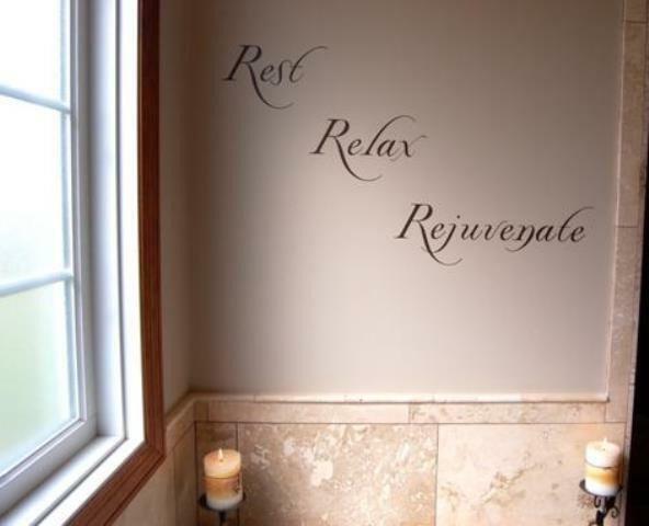 Bathroom Wall Art and Decor Best Of Rest Relax Rejuvenate Vinyl Wall Decal Sticker Art Bathroom Decor