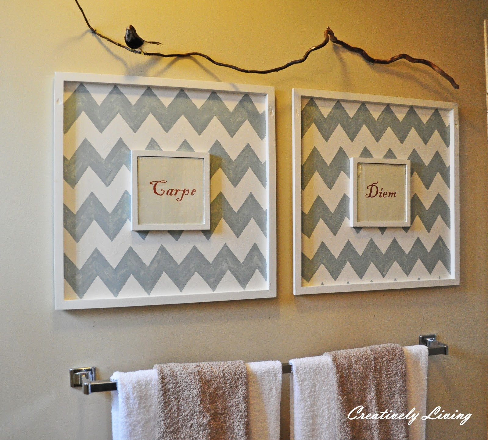 Bathroom Wall Art Creatively Living Blog