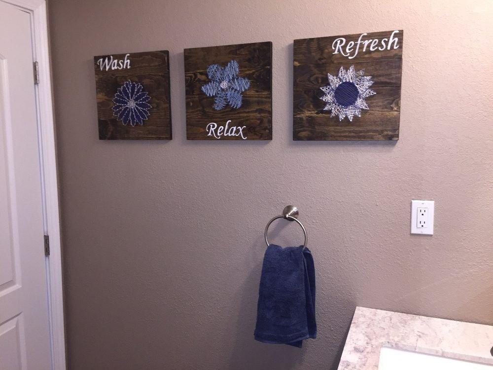 Bathroom Wall Art Ideas Decor Luxury Diy Bathroom Wall Art String Art to Add A Pop Of Color