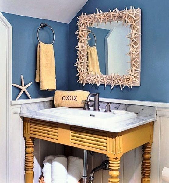 Beach themed Bathroom Wall Decor Luxury Mirror Border 32 Seaworthy Beach themed Bathrooms You Can…