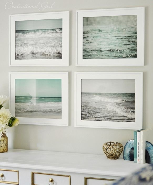Beach themed Wall Decor Ideas Beautiful Set Of Framed Beach Prints What A Fresh Alternative to Framed Prints Of Shells or Fish to