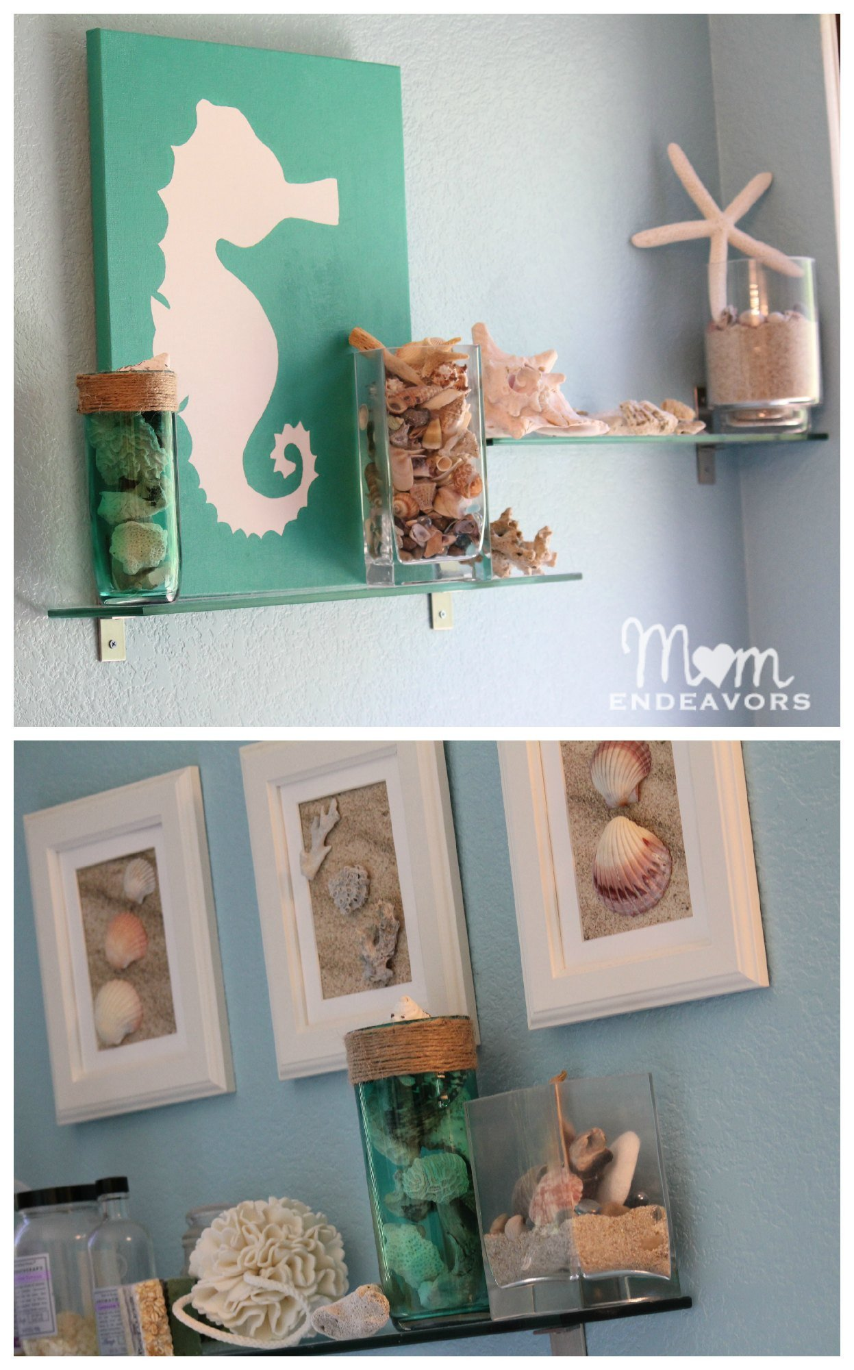 Beach Wall Decor for Bathroom Awesome Diy Beach Inspired Stained Glass Vase with A Huge Decoart & Michael's Giveaway
