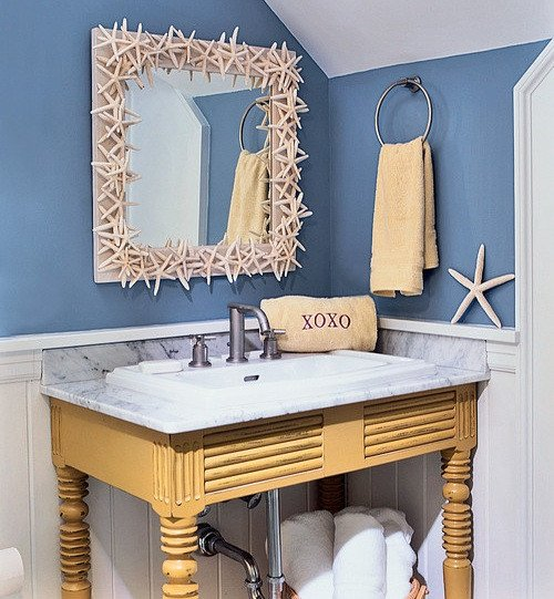 Beach Wall Decor for Bathroom Luxury Refreshing Beach Bathroom Décor Ideas