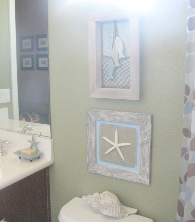 Beach Wall Decor for Bathroom Unique 23 Stunning Beach Style Bathroom Design Ideas