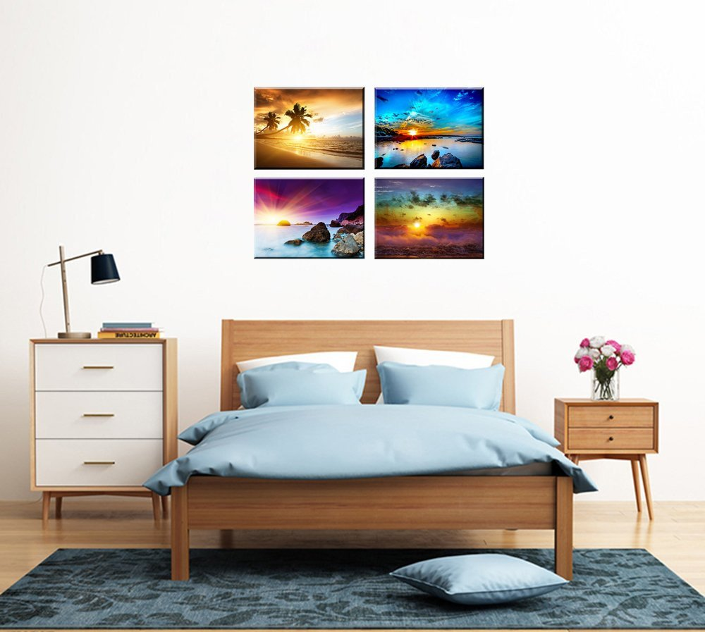 Beach Wall Decor for Bedroom Awesome Beach theme Decor for Bedroom Piy Hd Beautiful Sunset Sea Wall Art Colorful