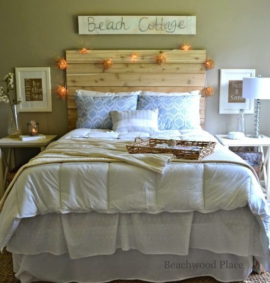Beach Wall Decor for Bedroom Lovely Beach theme Guest Bedroom with Diy Wood Headboard Wall Art and Lots Of Annie Sloan Chalk Paint
