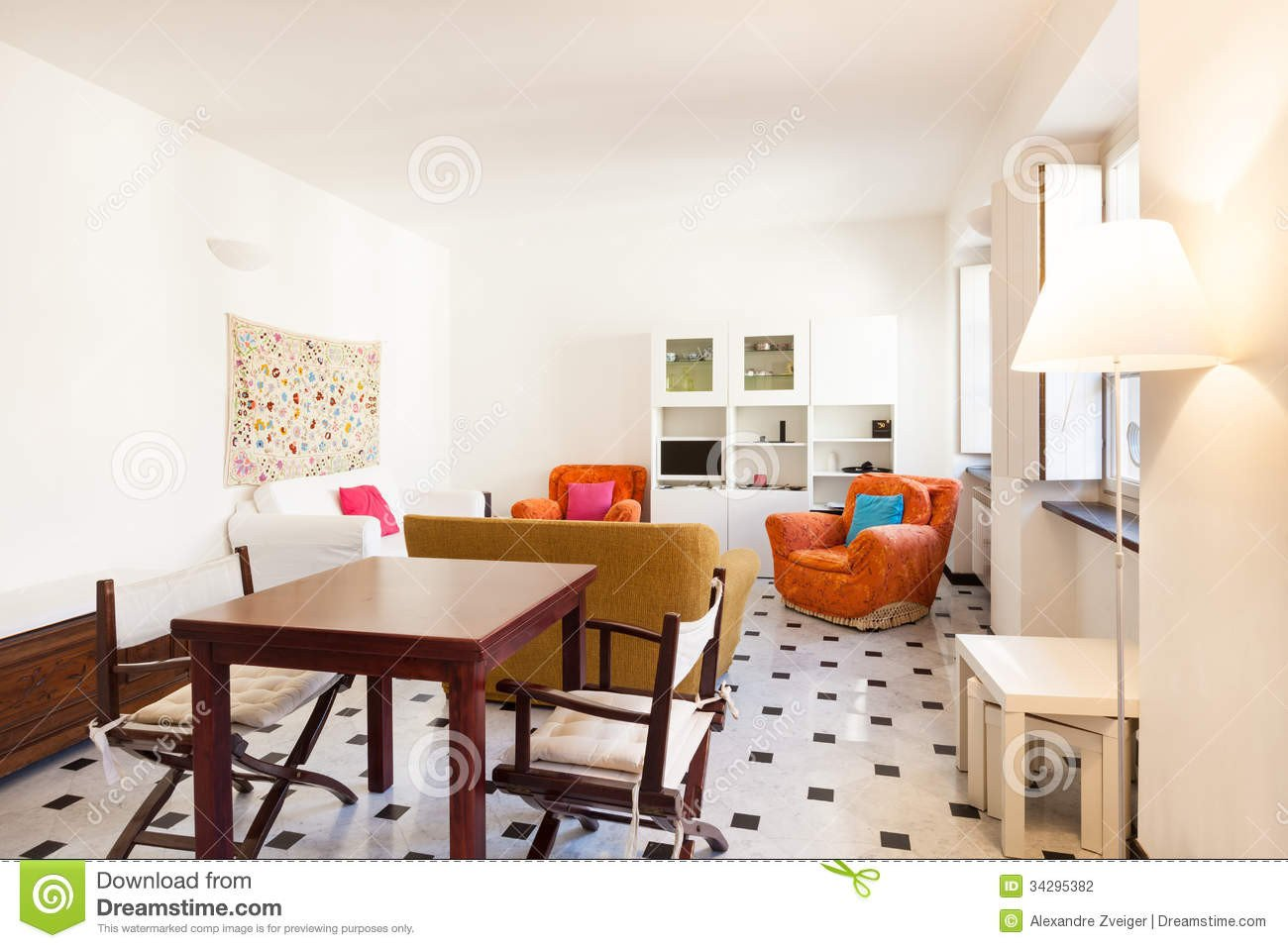 Beautiful Comfortable Living Room Fresh Interior Beautiful Apartment Stock Graphy Image