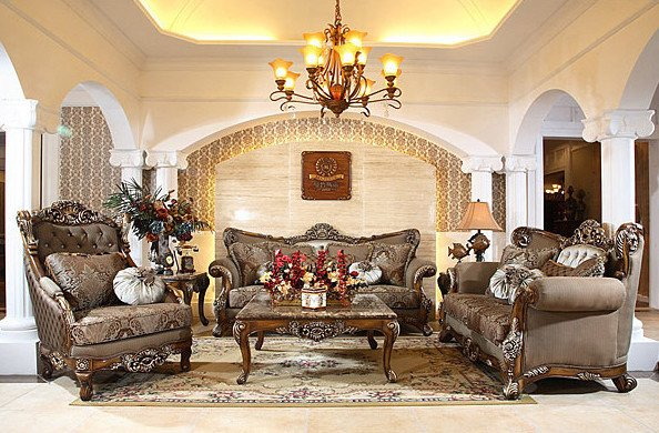 Beautiful Traditional Living Room Luxury Antique sofa Sets From Afd – Beautiful Replicas for An Elegant Living Room Traditional