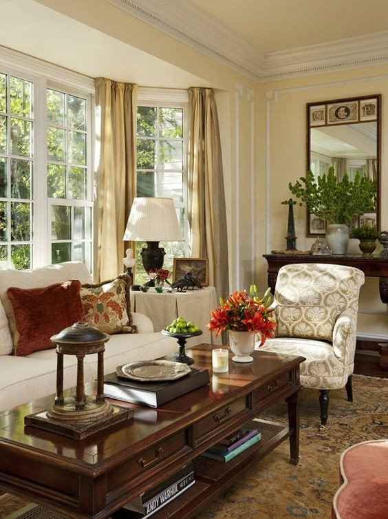 Beautiful Traditional Living Room Luxury Beautiful Classic and Window On Pinterest