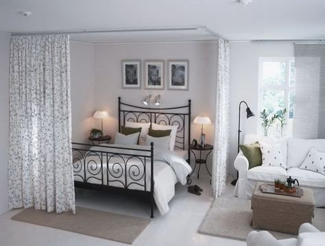 Bedroom Ideas Small Living Room Elegant Love the Curtains to Separate the Bedroom Space Home Ideas In 2019