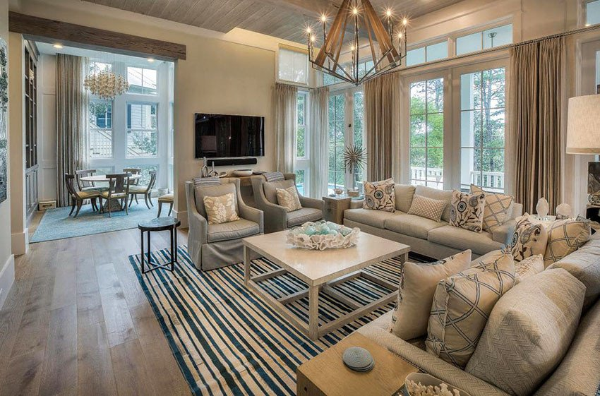 Beige Modern Living Room Decorating Ideas New 19 Coastal themed Living Room Designs Decorating Ideas Designing Idea