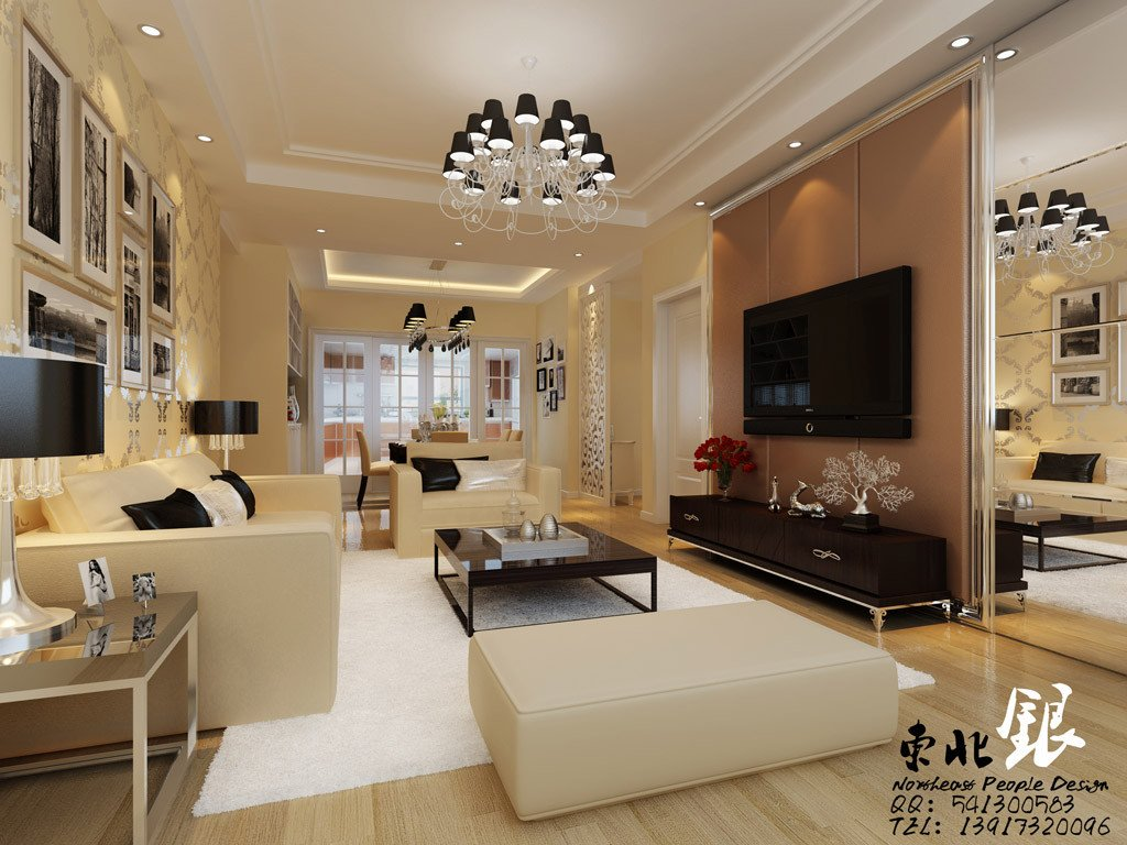 Beige Modern Living Room Decorating Ideas New Chinese Beige Living Room