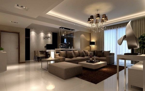 Beigh Modern Living Room Decorating Ideas Beautiful Brown Beige Living Room Ideas Modern Furniture Sandstone Floor Tiles Brown Shaggy Rug