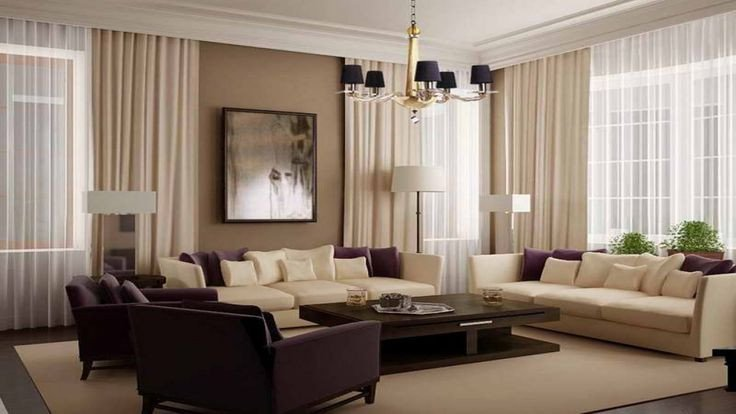 painting for modern living room with beige curtain 1280×720