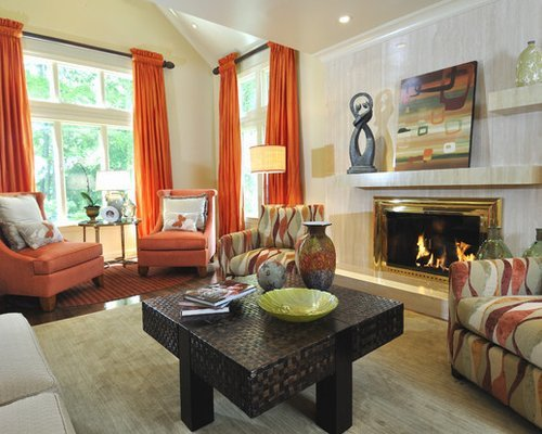 Beigh Modern Living Room Decorating Ideas Luxury orange Curtains Home Design Ideas Remodel and Decor