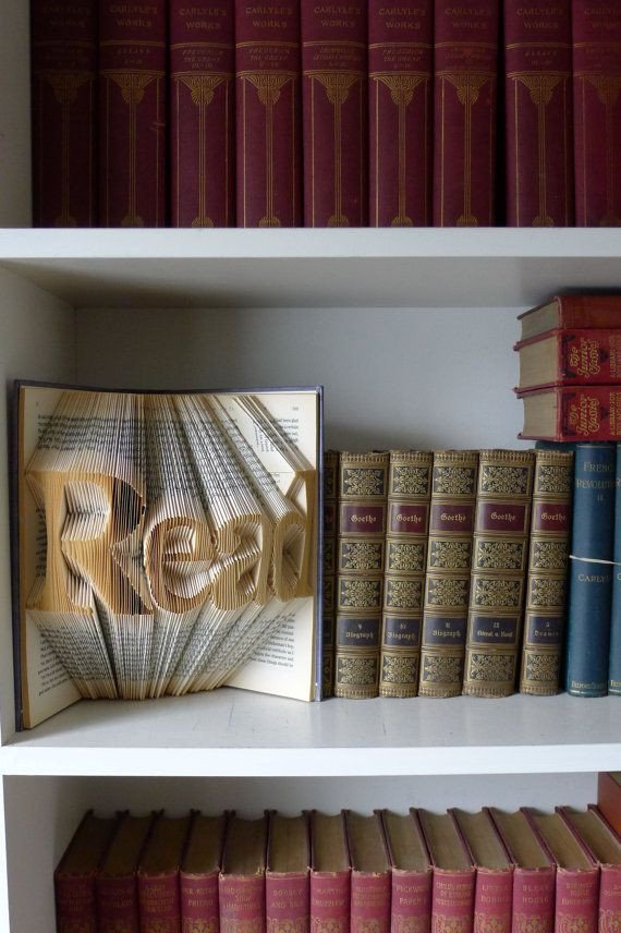 Best Selling Home Decor Items Beautiful Folded Book Sculpture Read Home Decor Gifts for Book Lovers Best Selling Items Teacher