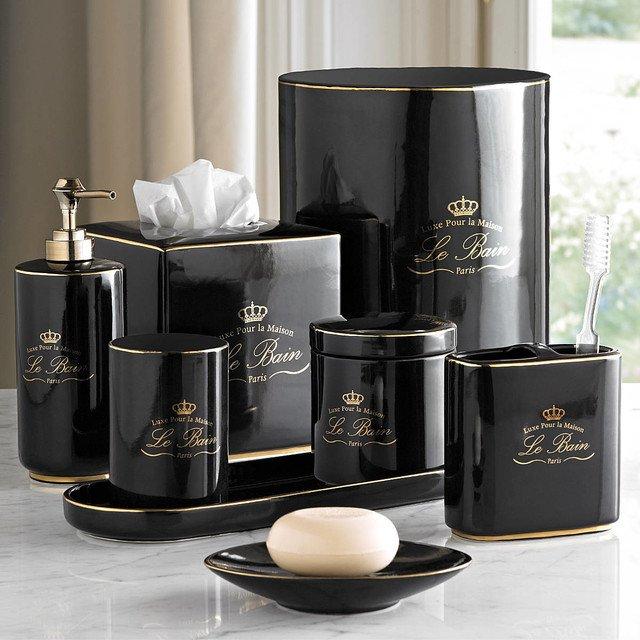 Black Gold Bathroom Accessories