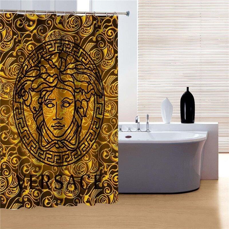 Black and Gold Bathroom Decor Beautiful Gold and Black Colored Shower Curtain Bathroom Decor