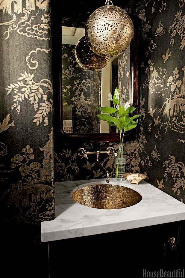 Black and Gold Bathroom Decor Unique 28 Powder Room Ideas Decoholic