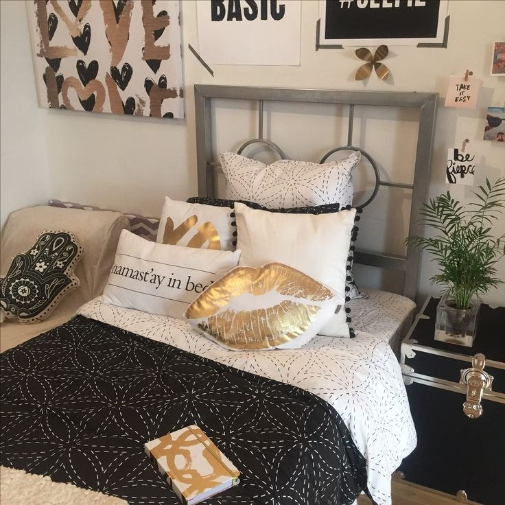 Black and Gold Bedroom Decor Inspirational Black Gold Dormify Mydormifystyle Pinterest
