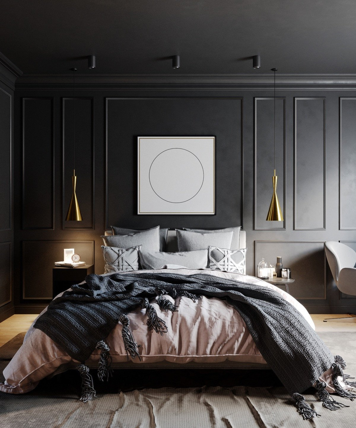 Black and Gold Bedroom Decor Lovely 51 Beautiful Black Bedrooms with Tips & Accessories to Help You Design Yours