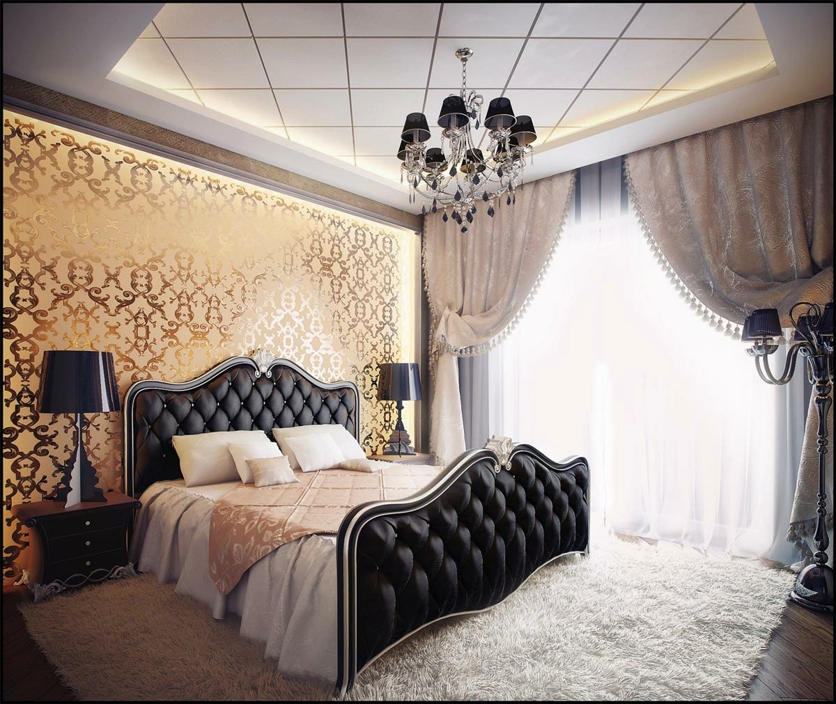Black and Gold Bedroom Decor Unique Bedrooms with Traditional Elegance