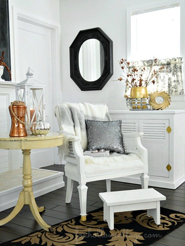 Black and Gold Home Decor Elegant Bud Friendly Fall Decorating Ideas Mixed Metals Fox Hollow Cottage