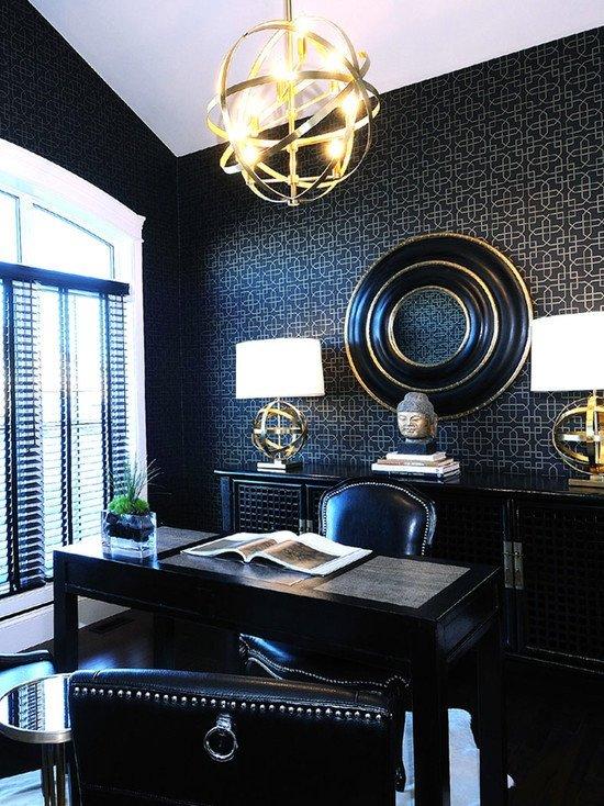 Black and Gold Home Decor Elegant Modern Home Fice Decorating Ideas
