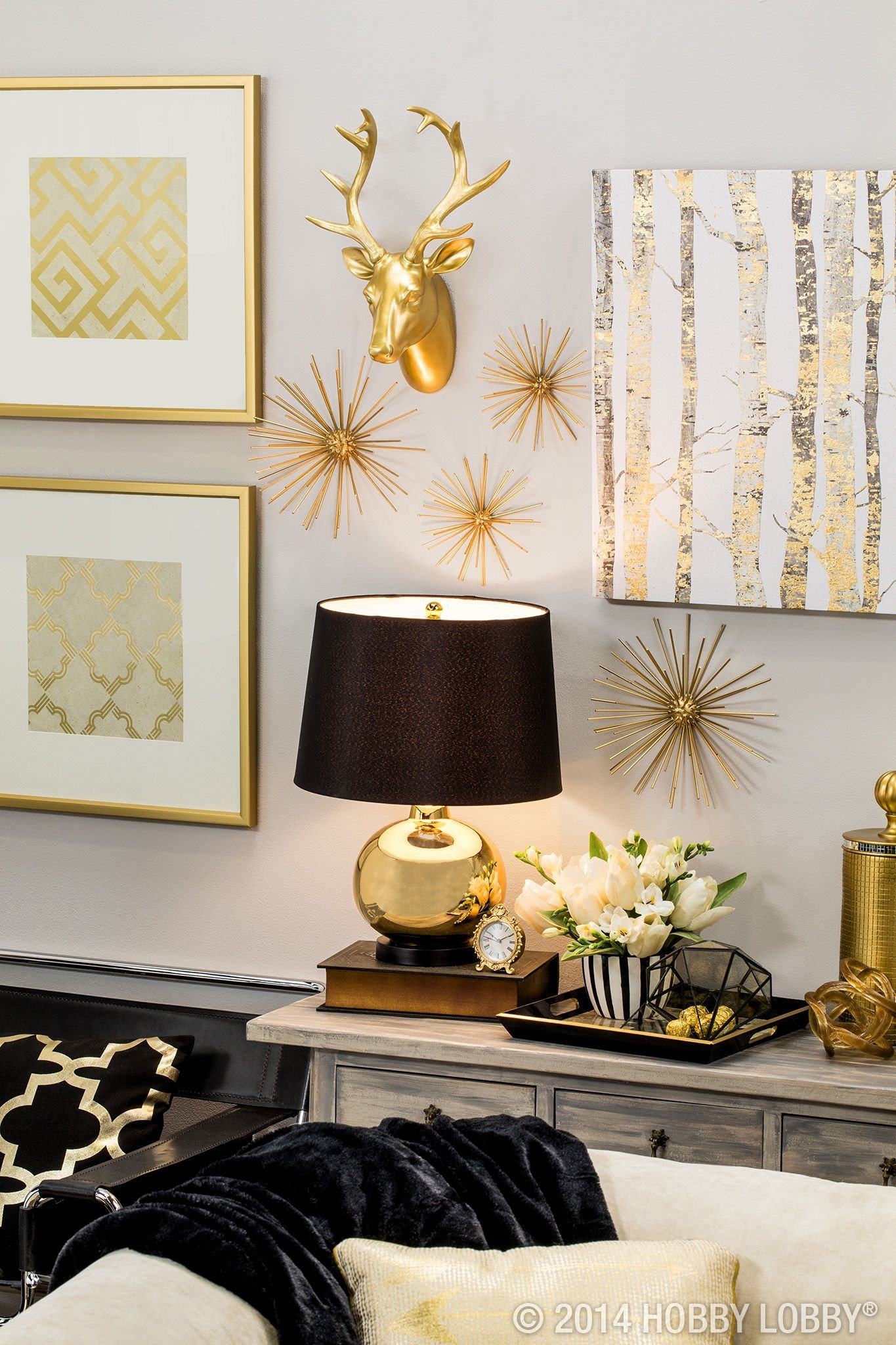 Black and Gold Home Decor New Black and Gold the Perfect Modern Pieces to Bring Your Home Up to Par