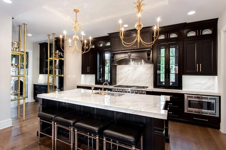Black and Gold Kitchen Decor Awesome Black and Gold Kitchen Cabinets Contemporary Kitchen