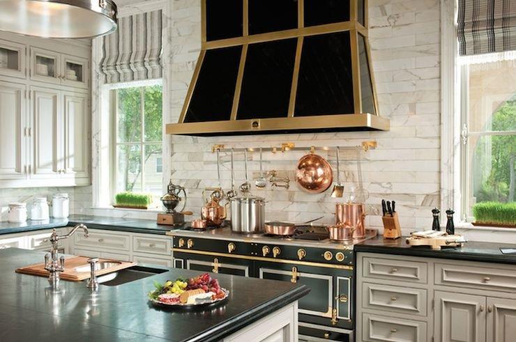 Black and Gold Kitchen Decor Beautiful Black and Gold Kitchen Hood Transitional Kitchen atlanta Homes & Lifestyles