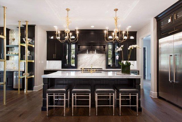 Black and Gold Kitchen Decor Elegant the Tara