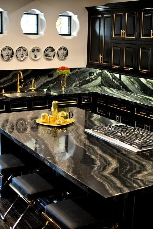 Black and Gold Kitchen Decor Lovely Black and Gold Kitchen Cabinets Contemporary Kitchen