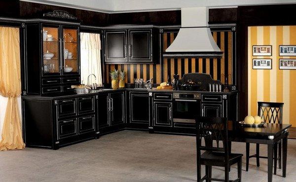 Black and Gold Kitchen Decor Lovely Fashionable Black Kitchen Design Ideas – 50 Amazing Kitchen Designs