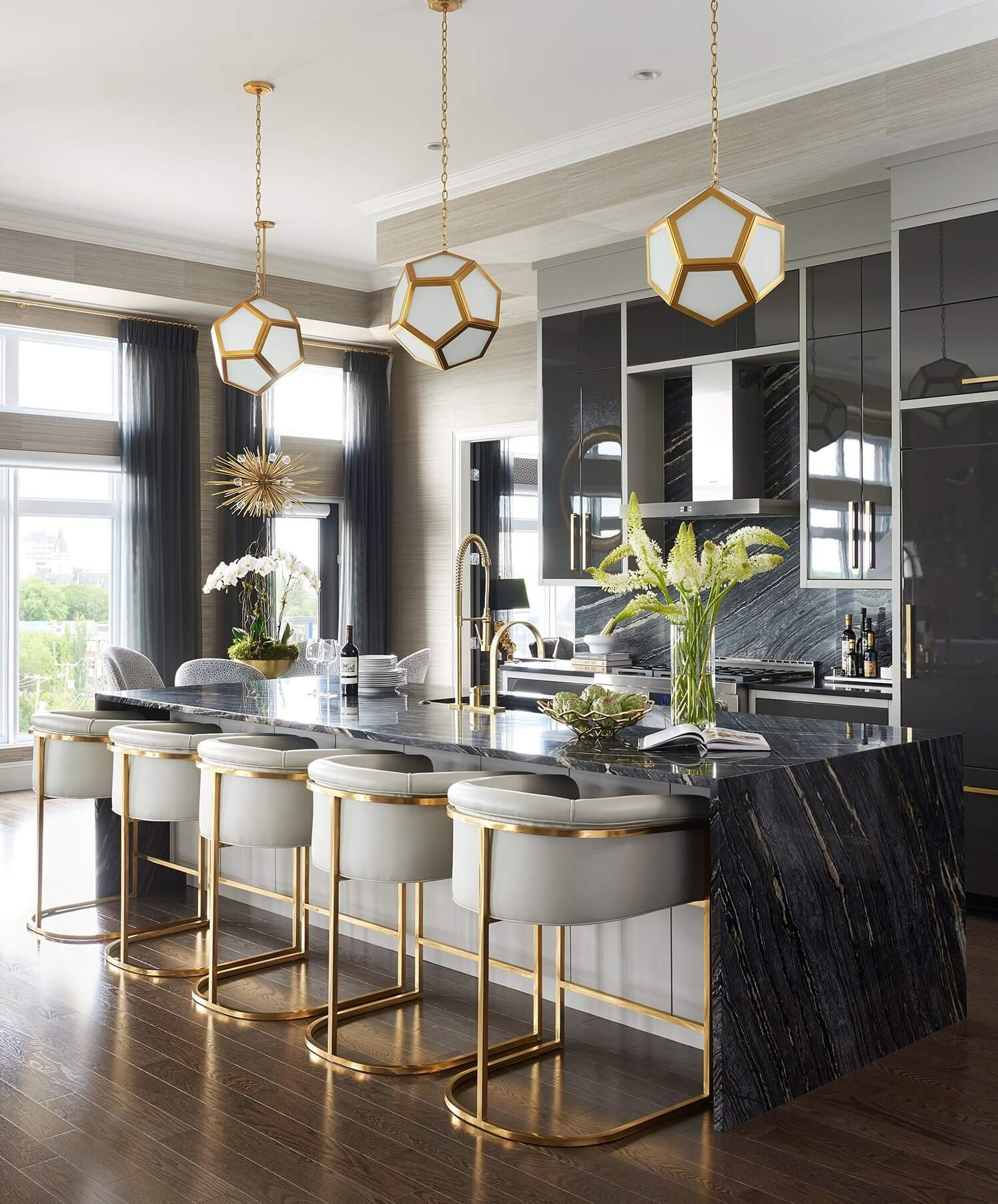 Black and Gold Kitchen Decor Lovely Marble Kitchen who Wore It Better