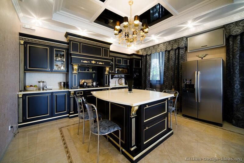 Black and Gold Kitchen Decor Lovely Of Kitchens Traditional Two tone Kitchen Cabinets Kitchen 26