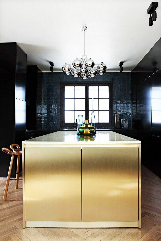 Black and Gold Kitchen Decor Lovely What S Hot 8 Beautiful Gold Brass and Hammered Metal Kitchens Shoproomideas