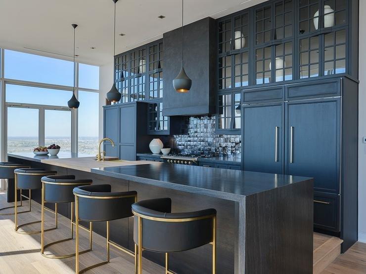 Black and Gold Kitchen Decor New Contemporary Black Kitchen Design Contemporary Kitchen