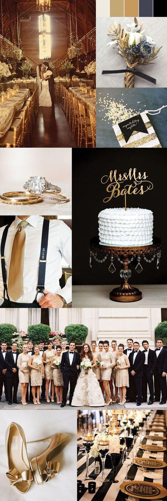 Black and Gold Wedding Decor Best Of 50 Tren St Gold Wedding Ideas