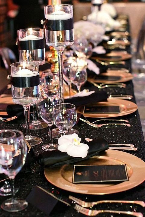 Black and Gold Wedding Decor Best Of 54 Black White and Gold Wedding Ideas Our Day